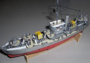 vorpostenboot und fischdampfer